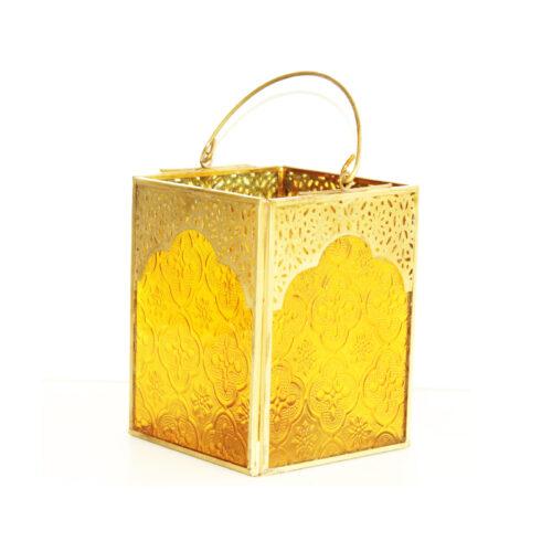 Yellow Jaali Lantern