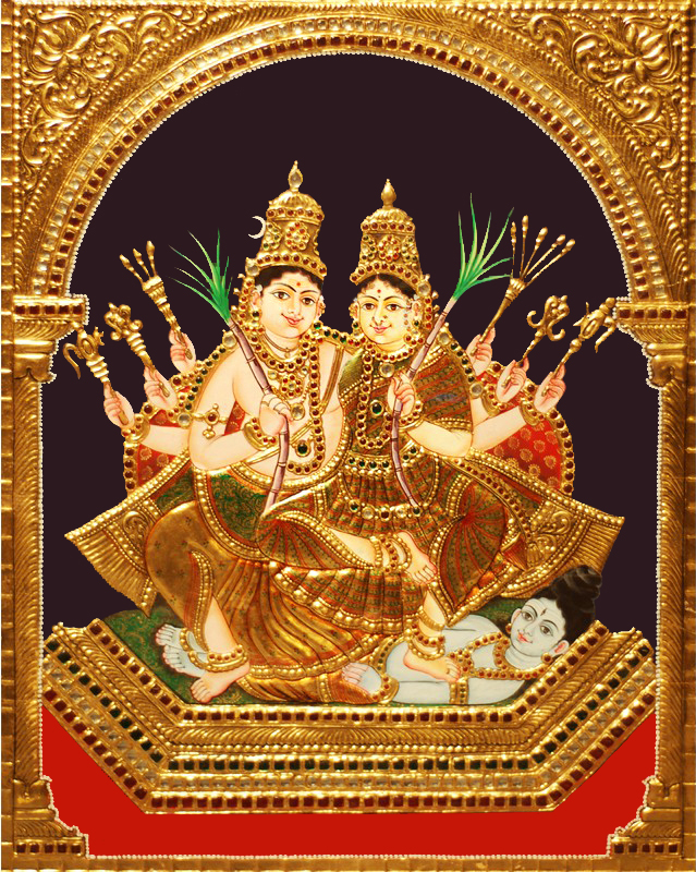 Kameshwara Kameshwari Tanjore Paintings