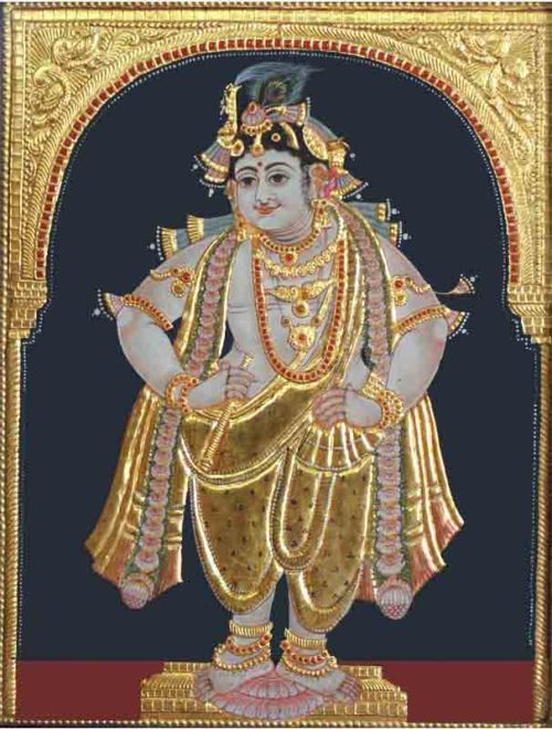 Venu Gopala Tanjore Painting