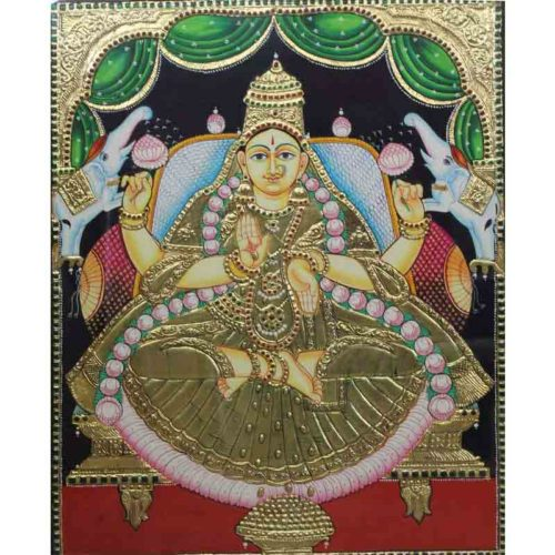 Gaja Lakshmi with Elephants