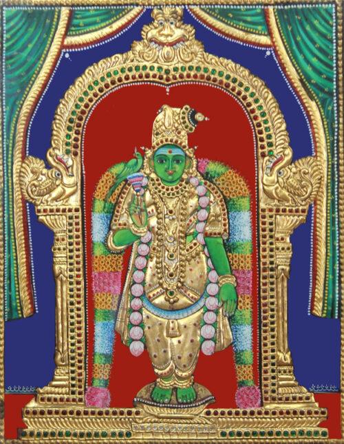 Goddess Meenakshi Tanjore painting