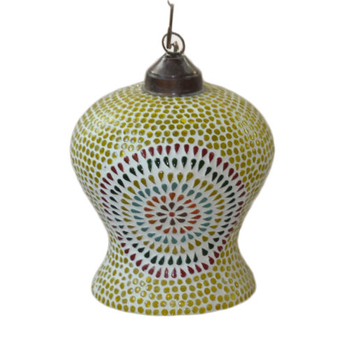 Madhurya Antique Hanging mosaic lamp Online shopping in India