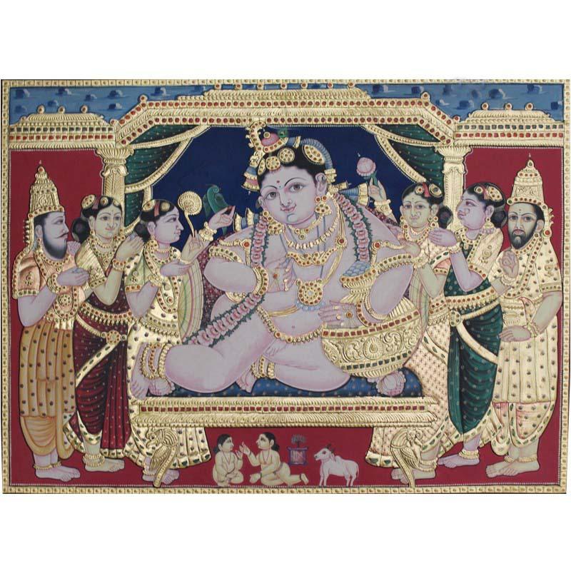 Lord Krishna Darbar Tanjore