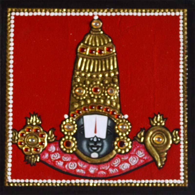 Balaji Tanjore Painting in 3D Finish