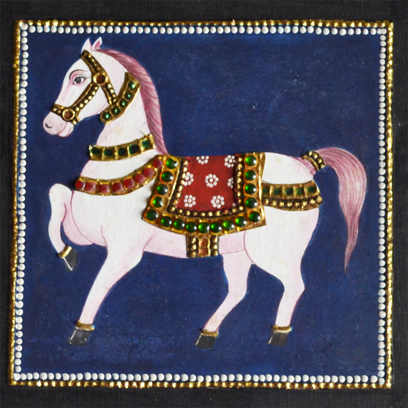 Horse Tanjore Painting