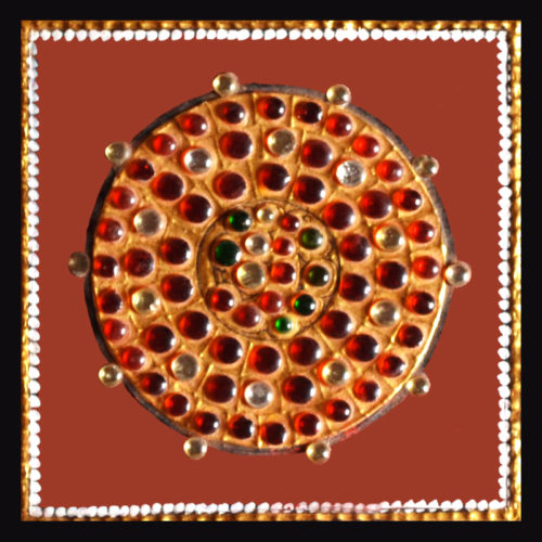 Gems & Kundan Sphere Shaped Tanjore Painting