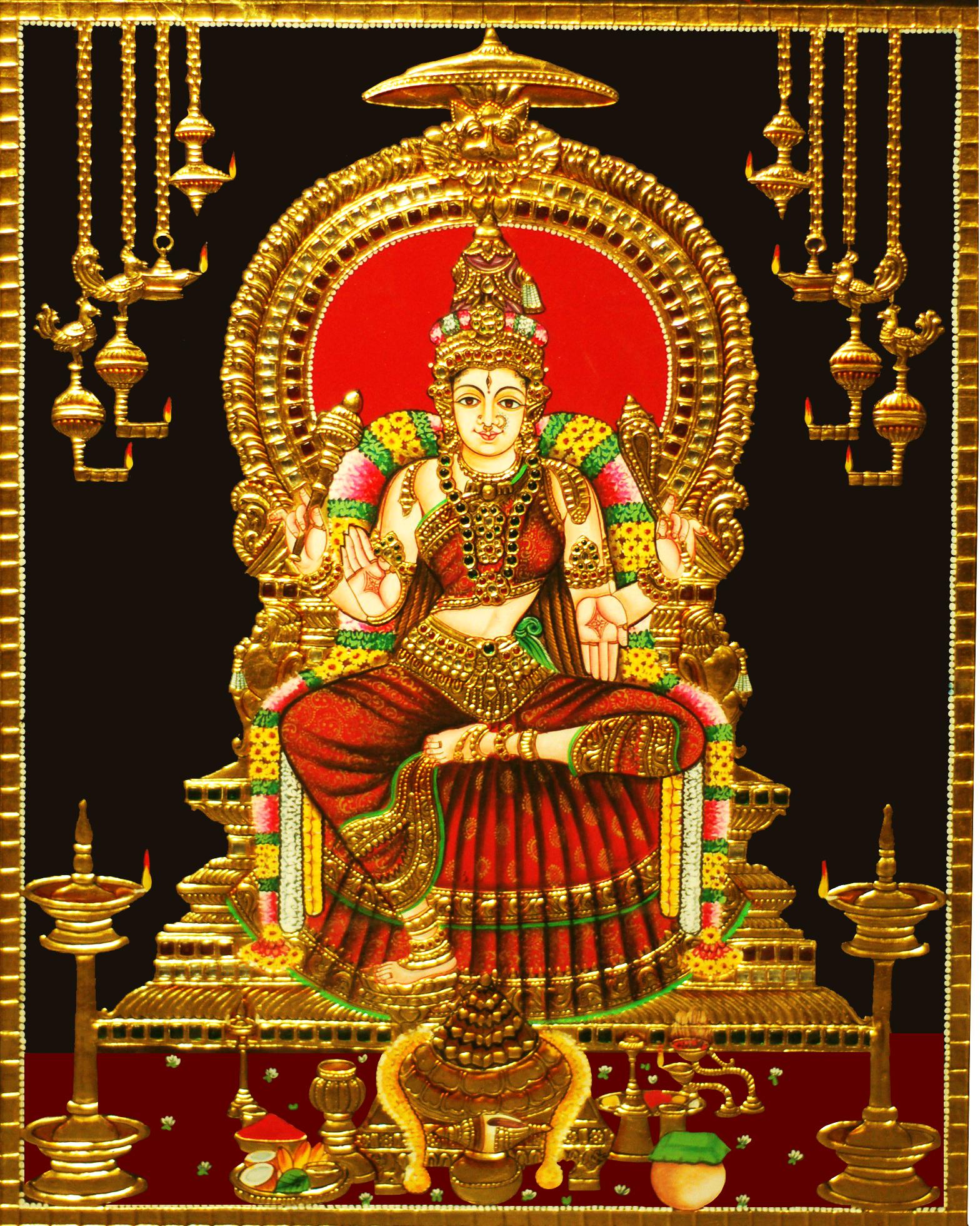 Bhuvaneswari Tanjore Painting