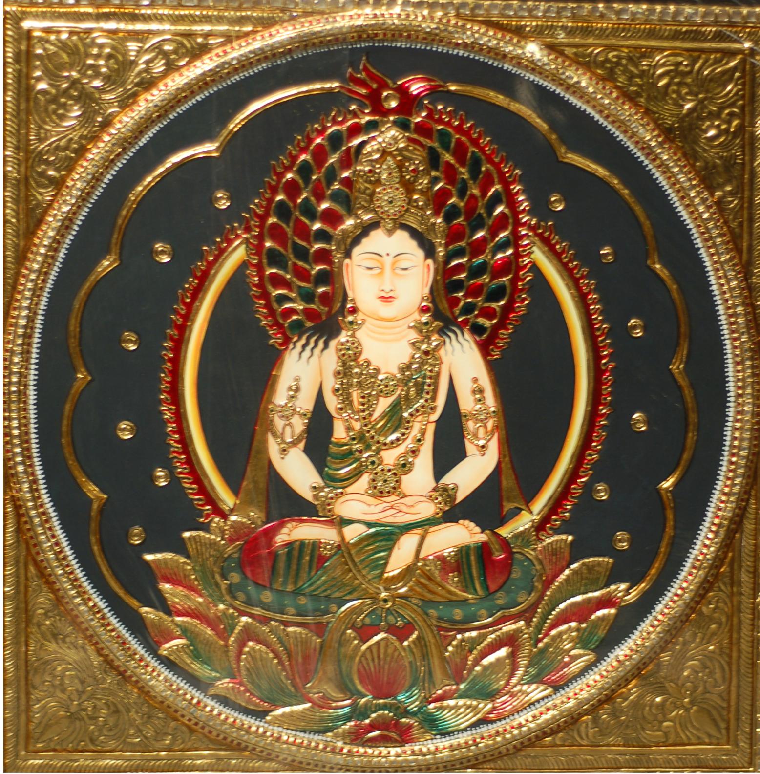 Tanjore Handmade Buddha Painting
