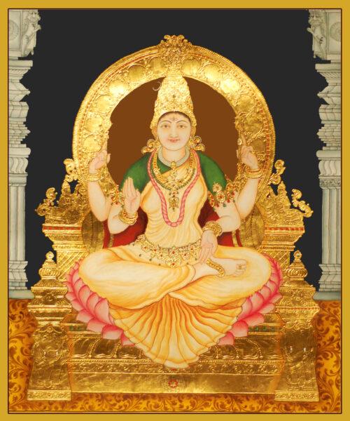 Goddess Bhuvaneswari Tanjore Painting