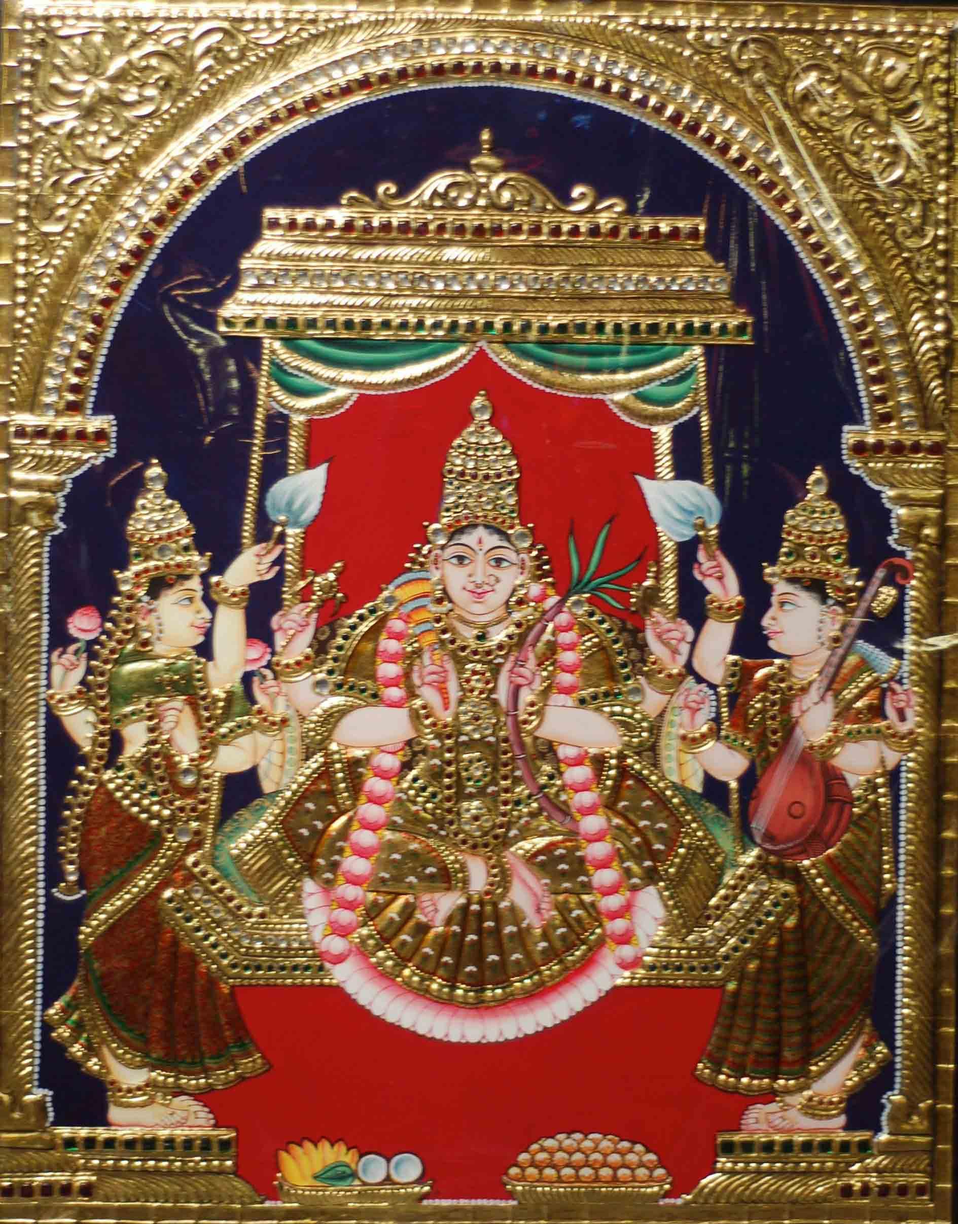 Mahalakshmi Tanjore Paintin