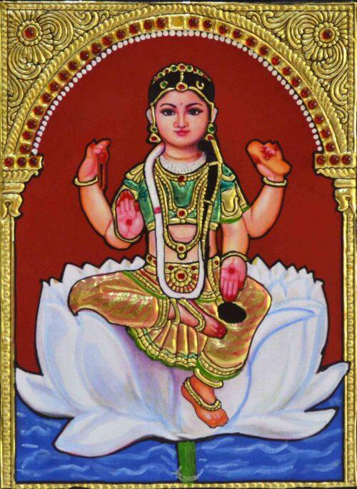 Narayani Bala Tripura Sundari Tanjore Painting