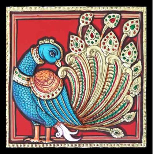 Peacock Tanjore Painting Online