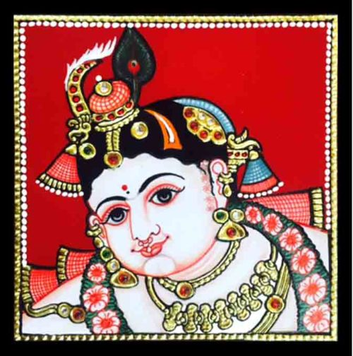 Buy Young Krishna Tanjore Painting Online