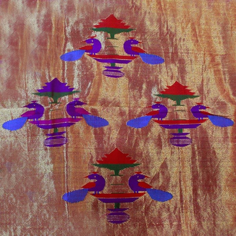 Purple Paithani Saree With Peacock Motif-3284