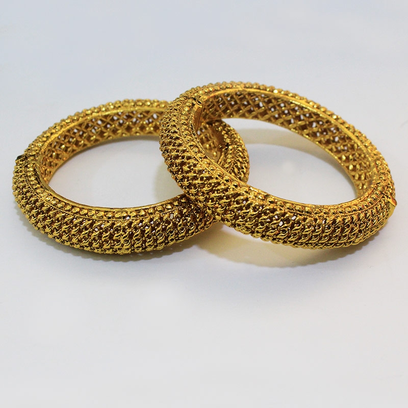 Designer Bangles With Yellow Gold Plating-0