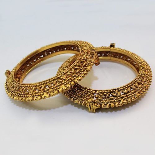 Antique Handmade Comfortable Openable Bangles-0