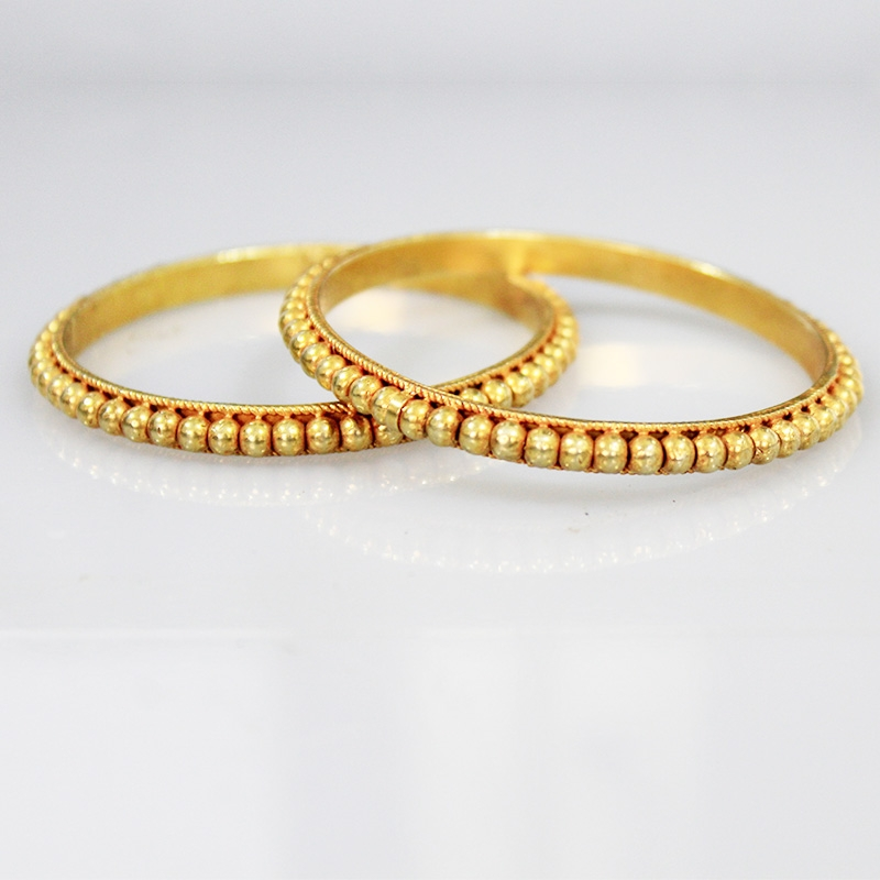 Glimmery Gold Plated Bangles For Women-0