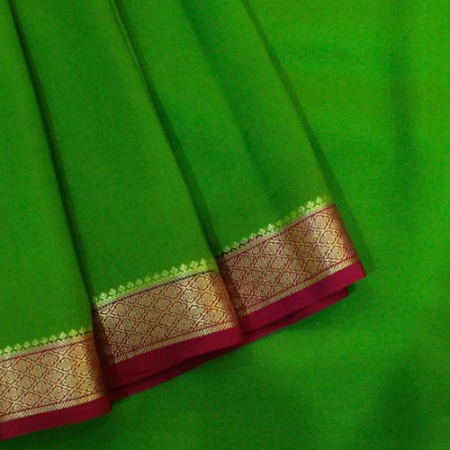 Green Mysore Silk Saree-0