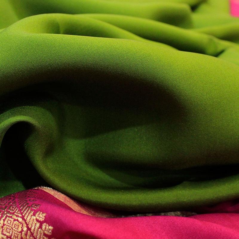 Green Mysore Silk Saree-3078