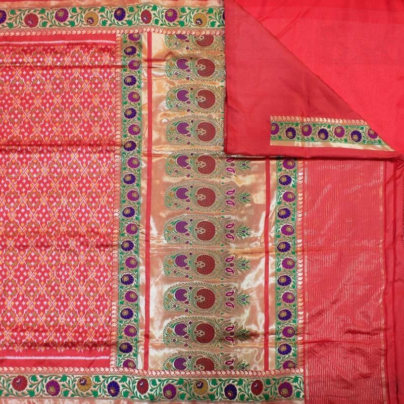 Red Ashavali Silk Saree-2987