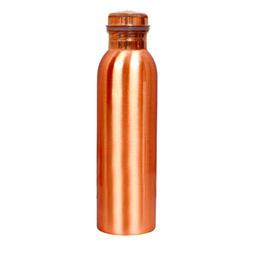 Copper Water Bottle Tridosha balance Detox Cleanse 100% Pure And Leak Proof (1050ml)-0