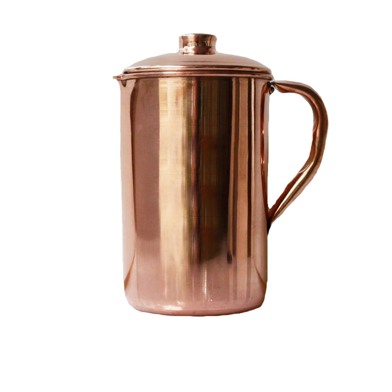 Copper Water Jug Tridosha balance Detox Cleanse 100% Pure And Leak Proof (1100ml)-0