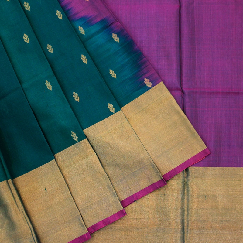 Uppada Green Color Pure Handloom Silk Saree-0