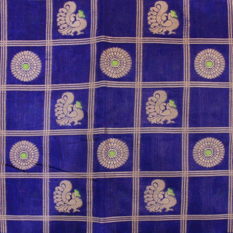 Purple Cotton Silk Saree in Patola Weave-3258