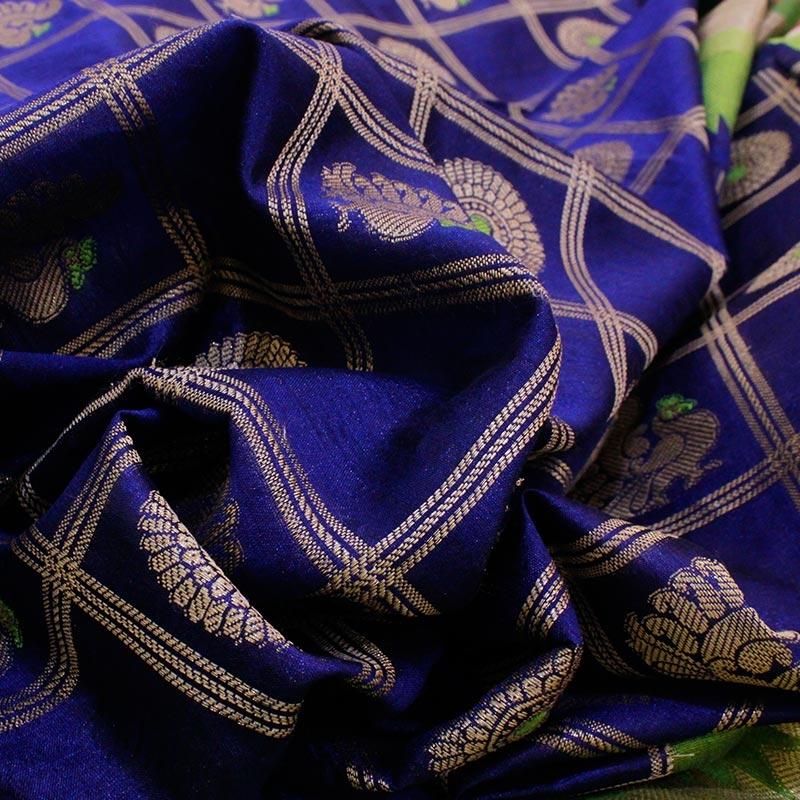 Purple Cotton Silk Saree in Patola Weave-3259