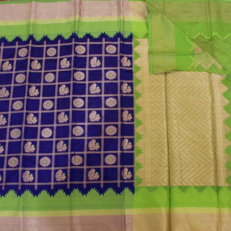 Purple Cotton Silk Saree in Patola Weave-3255
