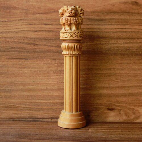 Wooden Ashoka Pillar-0