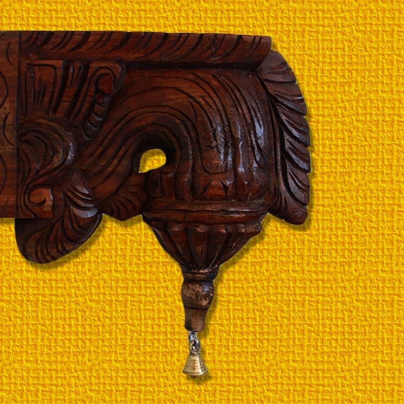Rose Bud Wooden Wall Bracket-0