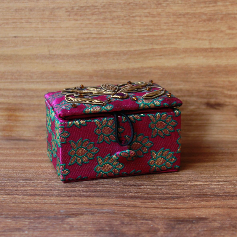 Hand Embroidered Jewellery box (Rectangular)-0