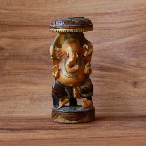 Handcarved Wooden Ganesha-0