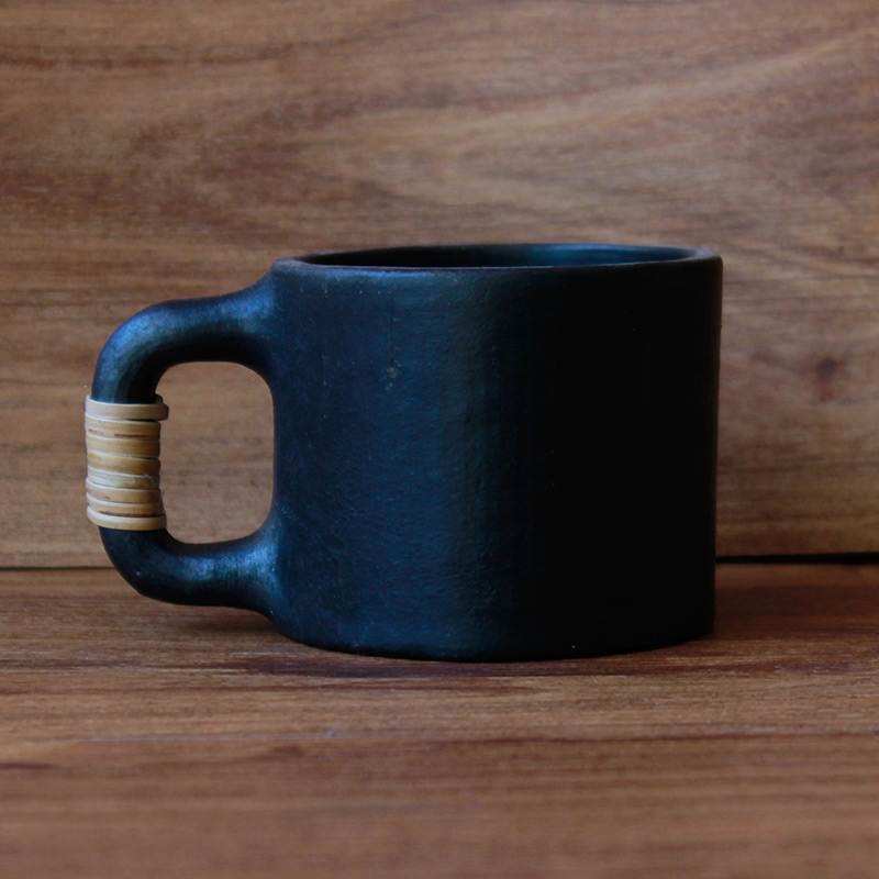 Black Pottery Cup-0
