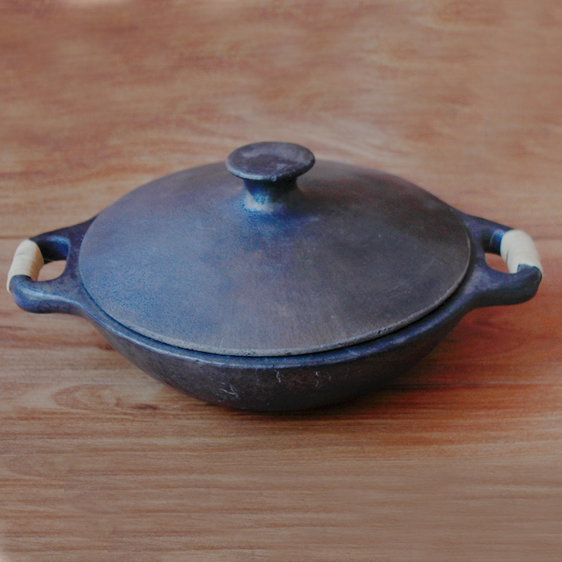 Black Pottery Cooking Vessel-0