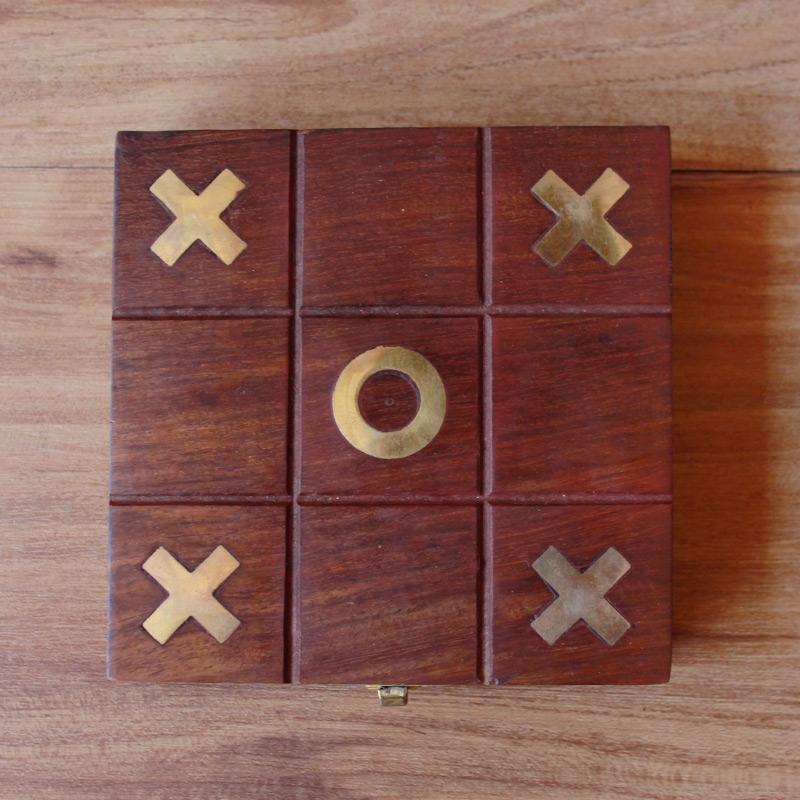 Wooden Tic Tac Toe-4133