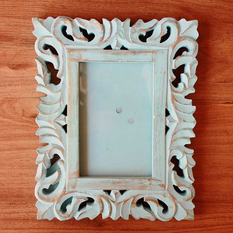 Pastel Green Square Wooden Photoframe-0