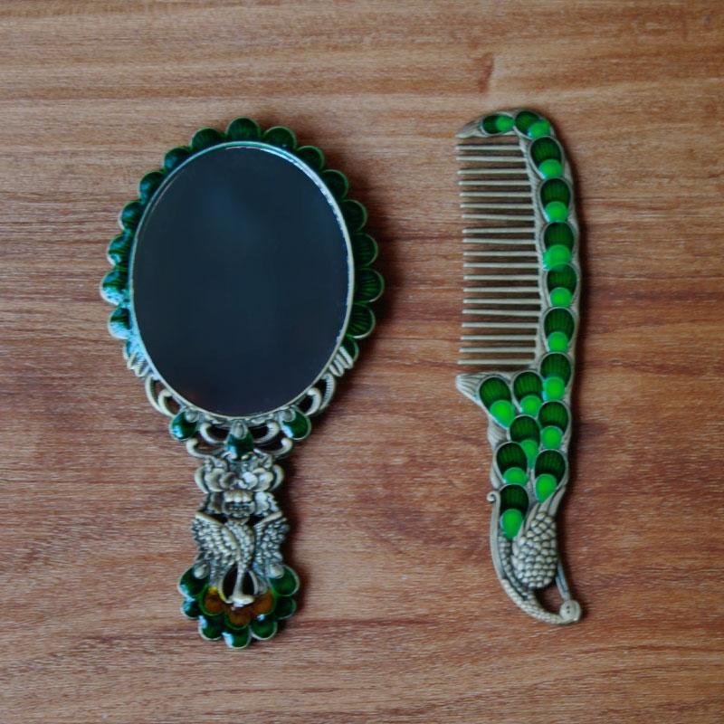 Mirror & Comb set (Green)-3966