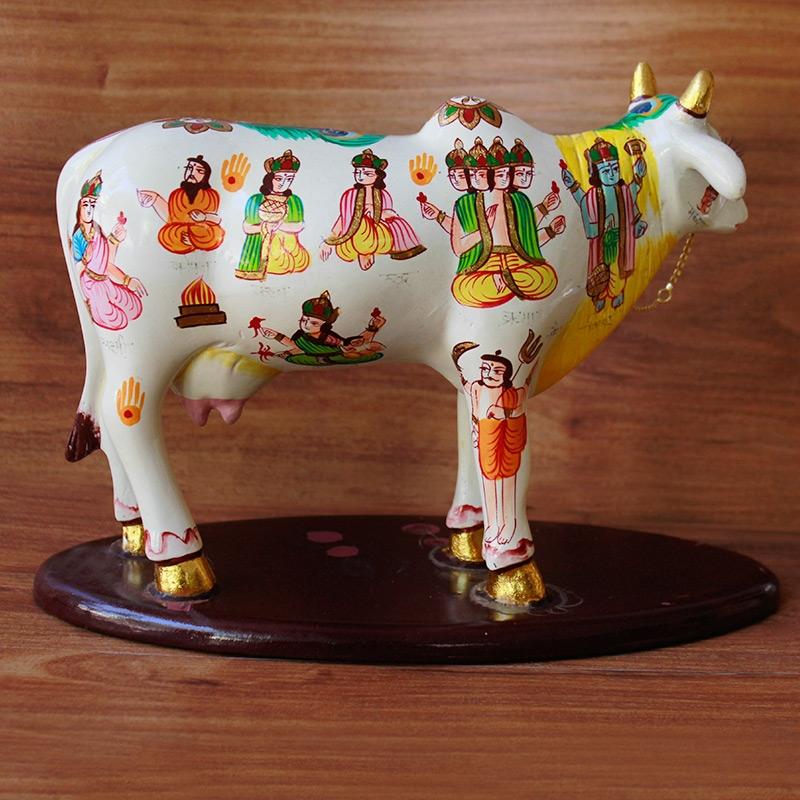 Colorful Kamdhenu Statue-4160