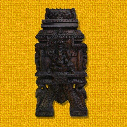 Ganesha Wooden Wall Hanging-0