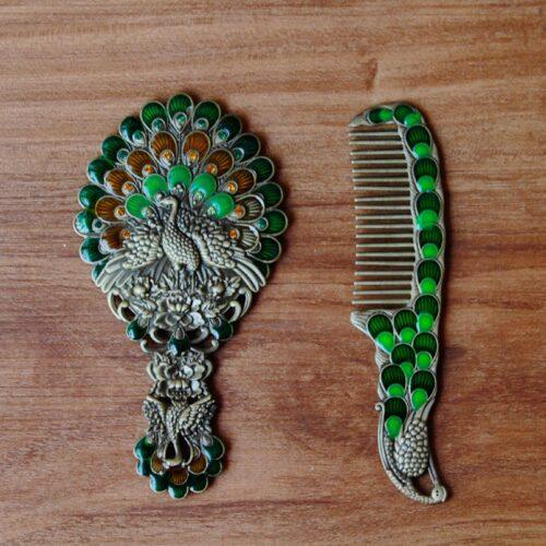Mirror & Comb set (Green)-0