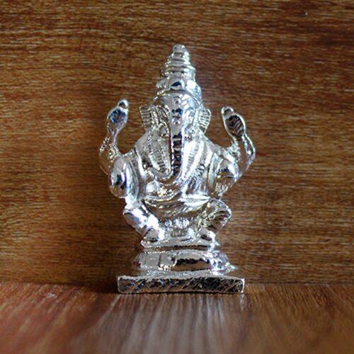Silver Ganesha Idol-0