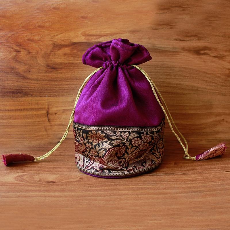 Magenta Potli Bag-0