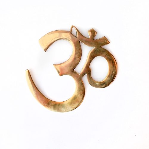 Brass Om Symbol Wall Hanging