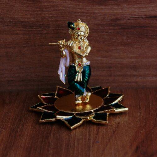 Golden Krishna Idol-0