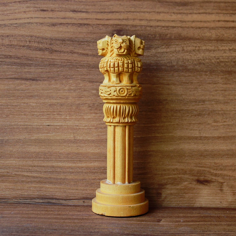 Wooden Ashoka Pillar (Medium)-0
