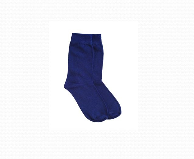 SOCKS – PLAIN BLUE COLOUR-0
