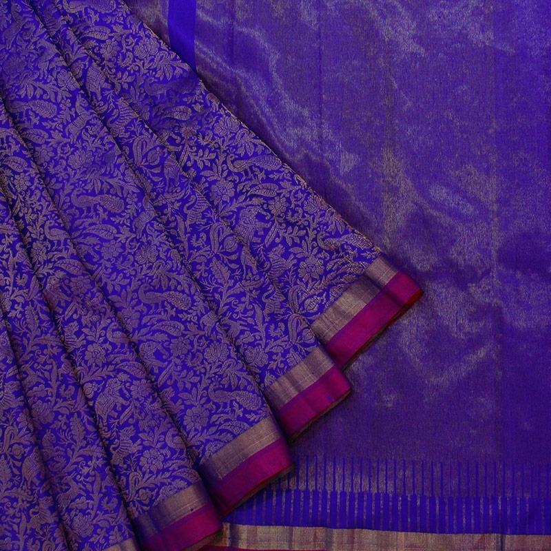 Royal Blue Shikargarh Kanchipuram Saree-0