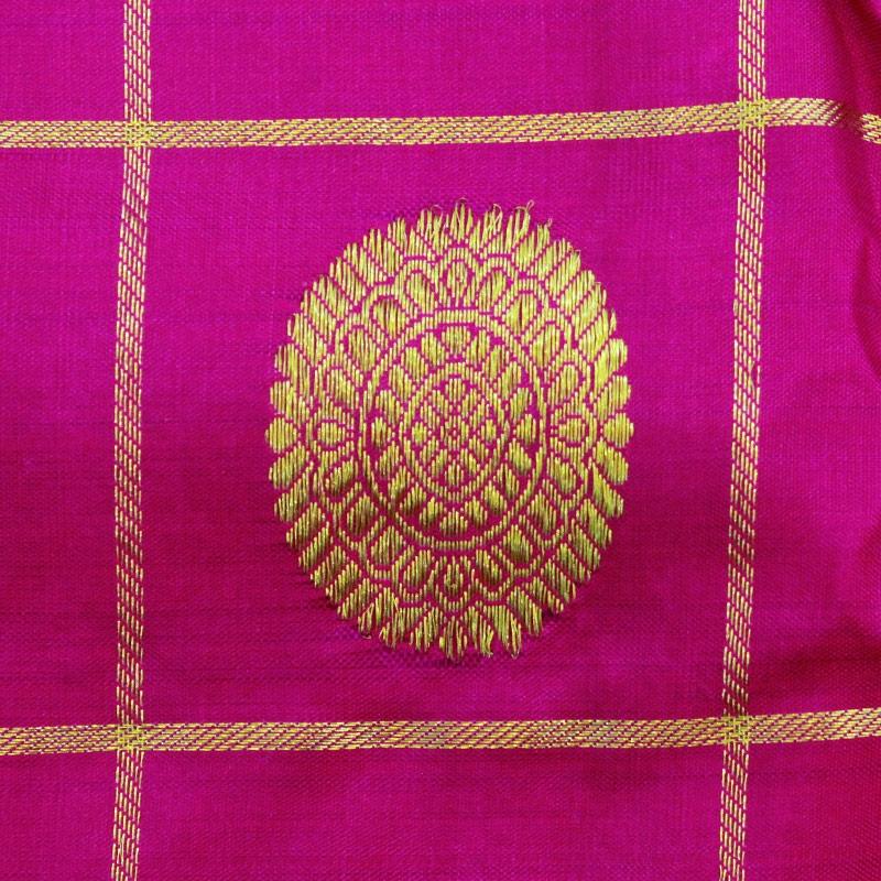 Magenta Rudraksha And Peacock Kanchipuram Sareee-4727